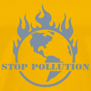 Yellow world burning T-Shirts - Men's Premium T-Shirt