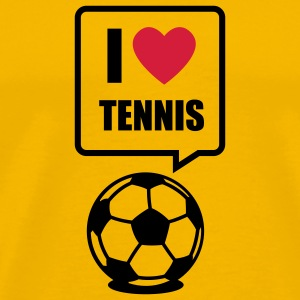 Yellow I love Tennis T-Shirts - Men's Premium T-Shirt