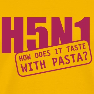 Yellow H5N1 Pasta T-Shirts - Men's Premium T-Shirt