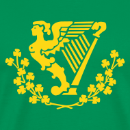 Design ~ Erin Go bragh - harp only - (You choose the colour of this Item)