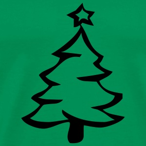 Grass green xmas tree T-Shirts - Men's Premium T-Shirt