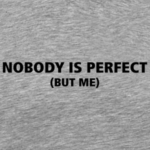 Ceniza Nobody is perfect camiseta - Camiseta premium hombre