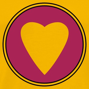 Yellow heart purple T-Shirts - Men's Premium T-Shirt