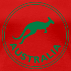 Red australia Ladies' - Women's Premium T-Shirt