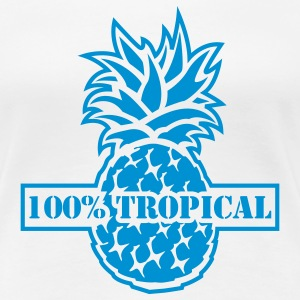 White 100% Tropical Ladies' - Women's Premium T-Shirt