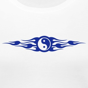 Weiß Yinyang Flametribal Girlie - Frauen Premium T-Shirt