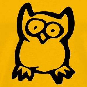 Yellow Owl T-Shirts - Men's Premium T-Shirt