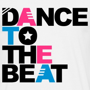 Wit Dance to the Beat T-shirts - Mannen T-shirt