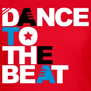 Rood Dance to the Beat T-shirts - Vrouwen T-shirt