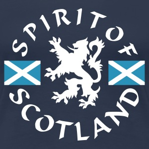Navy Spirit-of-Scotland Girlie - Frauen Premium T-Shirt