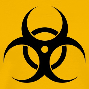 Yellow Biohazard Men's T-Shirts - Men's Premium T-Shirt