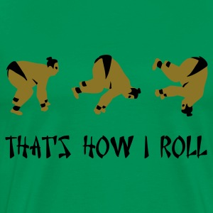 Grass green Sumo Roll T-Shirts - Men's Premium T-Shirt
