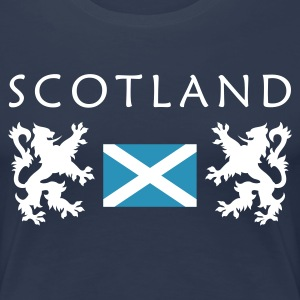 Navy Scotland-Flag Girlie - Frauen Premium T-Shirt