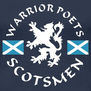 Navy Scotlands Warrior-Poets Girlie - Frauen Premium T-Shirt