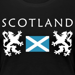 Schwarz Scotland-Flag Girlie - Frauen Premium T-Shirt