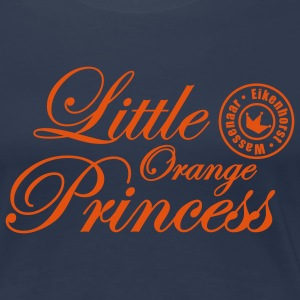 Navy Little Orange Princess Dames t-shirts - Vrouwen Premium T-shirt