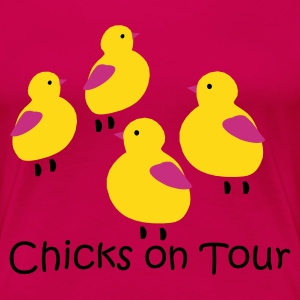 Pink Chicks on Tour Ladies' - Women's Premium T-Shirt