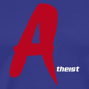 `Red A' Atheist T-Shirt - Men's Premium T-Shirt