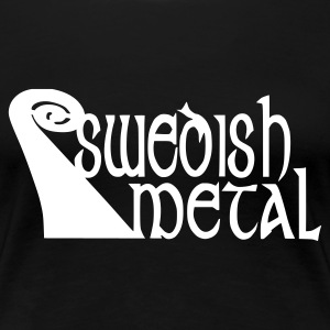Schwarz swedish metal Girlie - Frauen Premium T-Shirt
