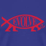 Motiv ~ Evolve Shirt mit rotem Fisch.