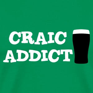 Grass green Craic Addict T-Shirts - Men's Premium T-Shirt