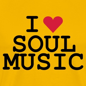 Gelb love_soulmusic T-Shirt - Men's Premium T-Shirt