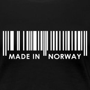 Sort Stregcode Made in Norway / Norge Damer - Dame premium T-shirt
