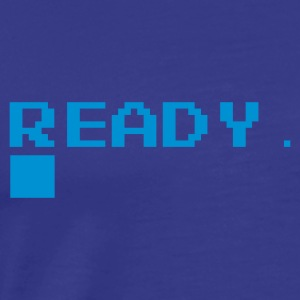 Royal blue Ready. T-Shirts - Men's Premium T-Shirt