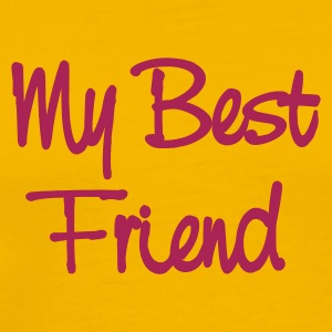 Gul My best friend T-shirt - Premium-T-shirt herr