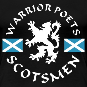 Schwarz Scotlands Warrior-Poets Girlie - Frauen Premium T-Shirt