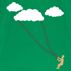 Grass green cloud kite T-Shirts