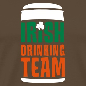 Braun irish drinking team T-Shirt - Männer Premium T-Shirt