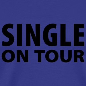 Himmelblå Single on Tour T-Shirts - Herre premium T-shirt