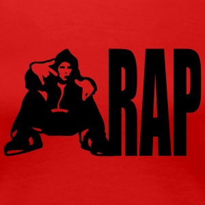 Rot Rap Girlie - Frauen Premium T-Shirt