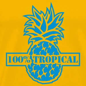 Yellow 100% Tropical T-Shirts - Men's Premium T-Shirt