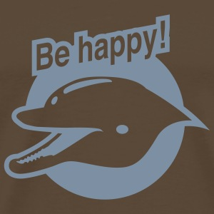 Brun Be happy! T-shirt - Premium-T-shirt herr