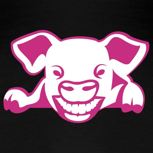 Fun-Shirt Girlie mit Schwein