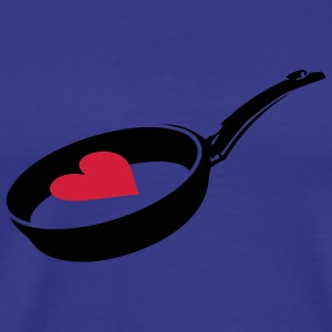 Sky Heart in Frying Pan T-Shirts - Men's Premium T-Shirt