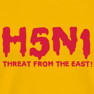 Yellow H5N1 Threat T-Shirts - Men's Premium T-Shirt