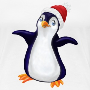 White Christmas Penguin Ladies' - Women's Premium T-Shirt