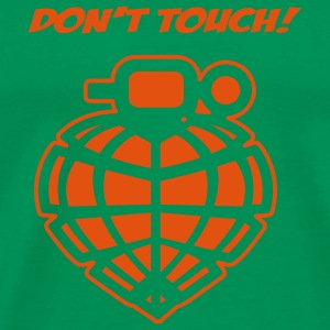 Bottlegreen Dont Touch T-Shirt - Männer Premium T-Shirt