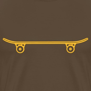 Brown Skateboard T-Shirts - Men's Premium T-Shirt