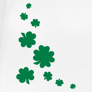 Weiß Shamrocks Girlie - Frauen Premium T-Shirt