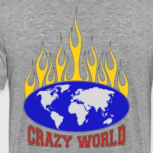 Crazy World - T-shirt Premium Homme