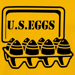 Yellow U.S. eggs T-Shirts - Men's Premium T-Shirt