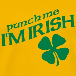 Yellow Punch Me T-Shirts - Men's Premium T-Shirt