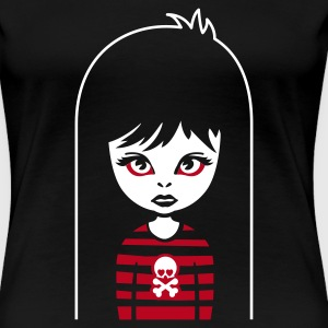 Schwarz bad gothic girl for black shirts Girlie - Frauen Premium T-Shirt