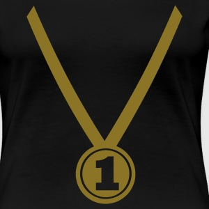 Black Winner Medal - Number One 1 Ladies' - Women's Premium T-Shirt