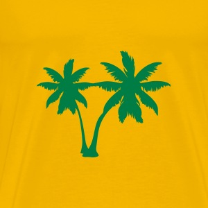 Yellow palm trees T-Shirts - Men's Premium T-Shirt