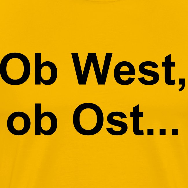 T-Hemd: West-Ost